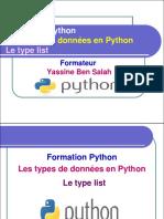 11- Le type list en Python - Yassine Ben Salah