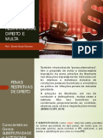 Aula 04 - Penas Restritivas de Direito e Multa