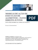 MODELO DE AÇÃO DE EXECUÇÃO DE ALIMENTOS – FATOS E DIREITO JUNTOS