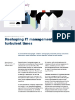 Reshaping IT management for turbulent times