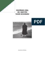 Enseñanza Oral Del Maestro Taisen Deshimaru by Deshimaru Taisen (Z-lib.org)