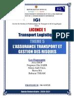 ASSURANCE TRANSPORT ET GESTION DES RISQUES