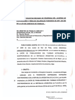 Impugnan y Solicitan Rechazo de Prorroga Del Art 223 BIS LCT.