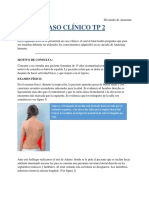 Caso clínico, escoliosis