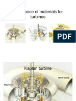 The choice of materials for hydraulic turbines