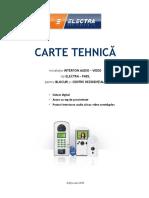 Carte Tehnica Pentru Instalatiile Audio Si Video Digitale