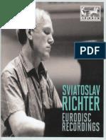 Sviatoslav Richter - Eurodisc Recordings - Booklet