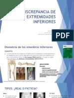 DISCREPANCIA DE EXTREMIDADES INFERIORES-Dra Amada