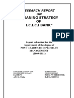 LOANING STRATEGY OF ICICI BANK