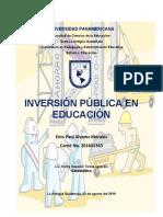 Inversión pública en educación