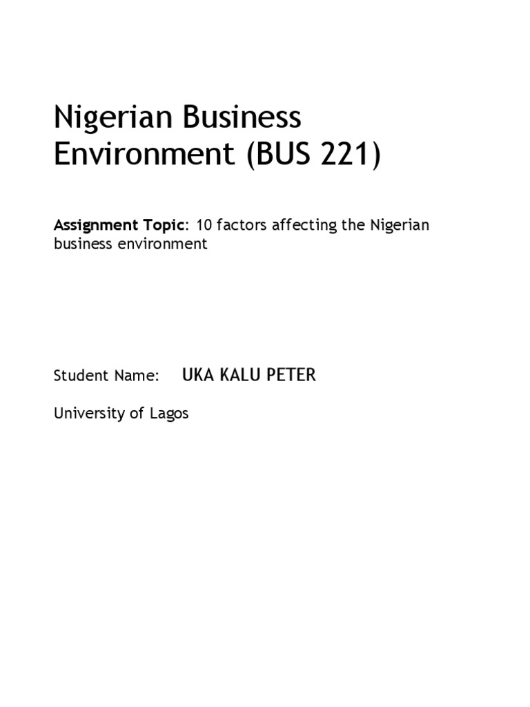 factors affecting the ian business environment