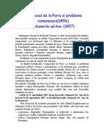 Congresul de la Paris si problema romaneasca