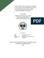 """""""METODE DOUBEL EXPONENTIAL SMOOTING DAN APLIKASI MICROSOFT VISUAL BASIC 6.0 DALAM MERAMALKAN NILAI PRODUK DOMESTIK REGIONAL BRUTO (PDRB) KABUPATEN BREBES TAHUN 2006"""""""