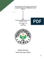 PANDANGAN FILSAFAT PANCASILA TENTANG MANUSIA