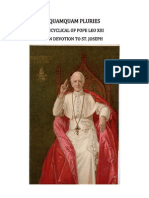 QUAMQUAM PLURIES Encyclical of Pope Leo XIII on Devotion to Saint Joseph