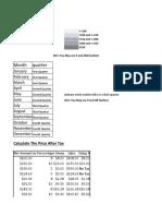 Excel Practicals