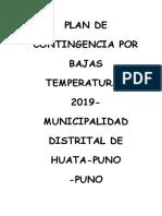 Plan de Contingencia Del Distrito de Huata Ing