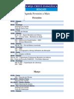 Agenda Fevereiro a Maio 2011
