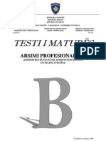 Testi B, Drejtimi Profesional III, Qershor 2009