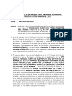 NOTA INFORMATIVA N°-RENDICION DE CUENTA DEL PRIMER TRIMESTRE.