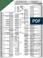 GM AGILE 1.4 FLEX 2009 - ESQUEMA ELÉTRICO INJEÇÃO ELETRÔNICA - MULTEC HN14YF-C OBD BR2