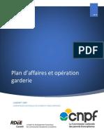Plan Daffaires Et Opération Garderie Gabarit CNPF