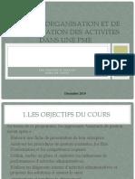 Cours d'Organisation Et de Planification Des Activites Dans (1)