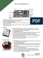 Installasi Komponen CPU