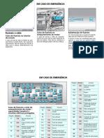 GM Captiva 2012 - Identificação de relés e fusíveis