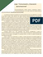 Jorge Huergo. Comunicación y educación. Aproximaciones