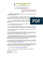 Lei 11.442 de Jan 2007 - Art 11 - Lei Das Diárias.