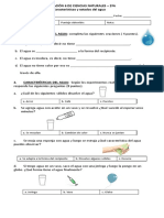 Evaluación agua, estados y características