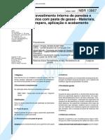 Document.onl Nbr 13867 Revestimento Interno de Paredes e Tetos Com Pastas de Gesso
