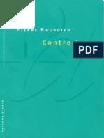 Pierre Bourdieu. - Contre-feux. _ [1], Propos Pour Servir à La Résistance Contre l'Invasion Néo-libérale-Liber-Raisons d'Agir (DL 1998)