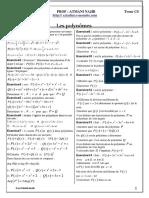 Les Polynomes Exercices Non Corriges 1