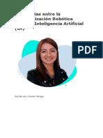 Diferencias entre la Automatización Robótica (RPA) y Inteligencia Artificial (IA)