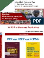 AULA 2 - PCP E SISTEMAS PRODUTIVOS 2020.2