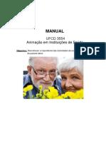UFCD 3554 - Animação Em Instituições de Saúde - Manual