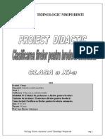 Proiect didactic clasificarea firelor pentru broderie Bursuc Anisoara