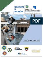 Cronograma y condiciones JORNADAS DE DIFUSIÓN