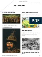DYNASTIES, RUSSIA AND WWI