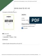 Arien-Album - Berühmte Arien Für Alt -Mit Klavierbegleitung- Von Various - Noten Portofrei Bei Bücher.de Kaufen