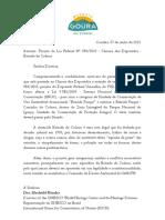 Ofício Nº 73_2021 - UNESCO - Estrada do Colono - PL Nº 984_2019 Câmara Federal