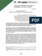 Tarrio - Las corrientes tradicionales e innovadoras en  educación