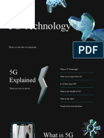 Blue 3D Elements 5G Technology Presentation