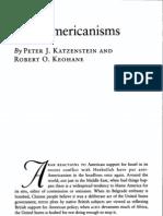 Keohane e Katzenstein - Anti-Americanism