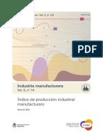Actividad de la Industria, Abril 2021. INDEC.
