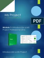 Modulo 1 - Introducción a Ms Project