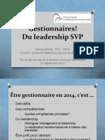 Gestionnaires! Du Leadership SVP Compétences