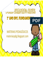 Planejamento 2º Ano - Materiais Pedagógicos